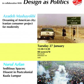 Azadeh Mashayekhi and Nurul Azlan , at the SPS Seminar series on Tuesday 27 JANUARY