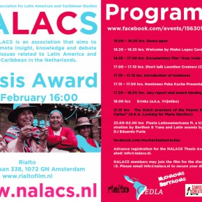SPS is one of the sponsors for the NALACS Thesis Award: Rialto (Amsterdam), 27 FEB, 16:00