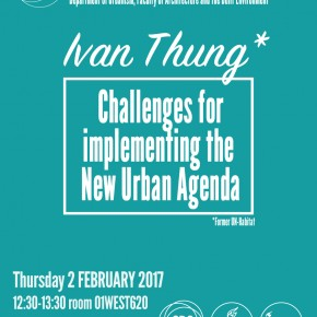 Ivan Thung: Challenges for Implementing the New Urban Agenda: THU 2 FEB 12h30