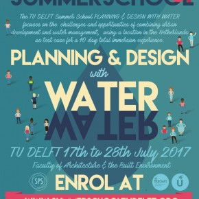 2017 Summer School 'Planning and Design with Water' applications now OPEN
