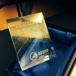 RETHINK THE CITY MOOC awarded AESOP Excellence in Teaching Award 2017