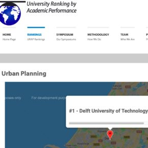 TU Delft is now ranked number 1 in the world in urban planning