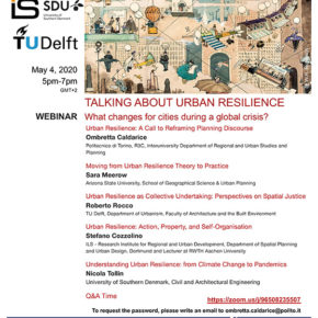 WEBINAR: Talking about urban resilience: what changes for cities during a global crisis? 4 MAY 17:00 GMT+2