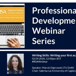 Writing your first academic article - RSA professional development webinar with Marcin Dąbrowski and Sarbina Lai