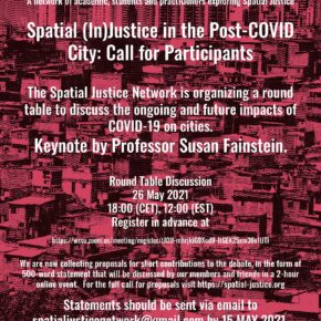 Spatial (In)Justice in the Post-COVID City: Call for Participants